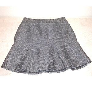 New w/ Tags - Gray Shimmer Tweed Mini Skirt Size 6